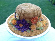 AMAZING All-Buttercream Decorated Hat Cake! Perfect for your Kentucky Derby…