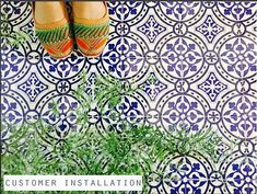 Portugal Terracotta Inspired Tile/Wall/Stair/ Floor Vinyl Decal/ Stickers Decal O R D E R . P A C K The design contains total 44 tile decals cut individually. S I Z E : You can select the size from right side- size drop down button. In case you need a custom size , write to us, we will make it without any extra cost <3 Colors: We are offering 3 colors in this listing- Gray:Blue:Rust Orange, You can select your choice from color drop down button. Installation guide  A B ...