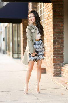 Joy :: Ombre fringe & Flare trench - Wendys Lookbook