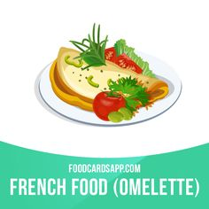 """While many associate the dish with the French, others believe that the Romans were actually the first to create the omelette. This is because ancient Romans paired an egg with sweetened honey and called it """"ovemele"""".  #omelette #omelet #frenchfood #food #english #englishlanguage #englishlearning #learnenglish #studyenglish #language #vocabulary #dictionary #vocab"""