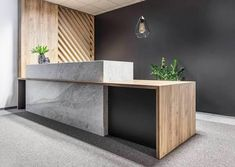 Image result for design reception counter timber