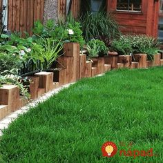 Sleepers for garden borders vertical sleeper planting bed edging tomoco landscaping Backyard Garden Design, Lawn And Garden, Garden Beds, Backyard Landscaping, Landscaping Ideas, Home Depot Landscaping, Landscaping Edging, Sloped Garden, Garden Shrubs