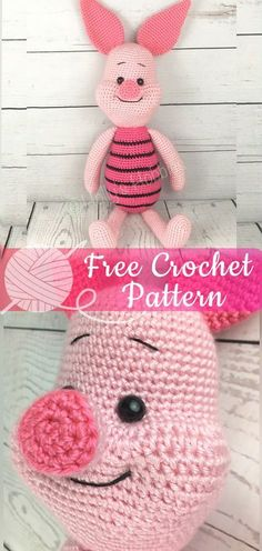 Piglet the Pig [CROCHET FREE PATTERNS] - All About Crochet