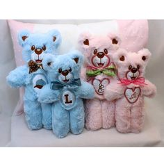 """""""Teddy Bears XL"""" are  you tired of tiny Teddy Bear designs? Then this set's for you, because it includes designs for 6x10 and 7x11 hoops! Stitch them with fur, fleece or whatever you wish. Instructions are included!"""