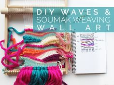 To prepare this weaving, I have used three specific techniques: the Rya knot, the wave weaving and the soumak weaving techniques which makes these pretty braids. To learn more about the basic techniques of weaving such as the warping of the loom and the simple weaving rows, I invite you to read this great tutorial
