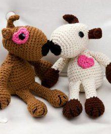 1500 Free Amigurumi Patterns: Puppy Love Crochet Pattern for Valentine