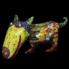 Сeramic figurine of a dog ceramic dog от CeramicsGerasimenko