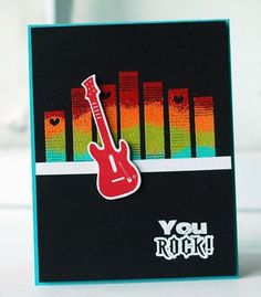 You Rock Card by Betsy Veldman for Papertrey Ink (June 2013)