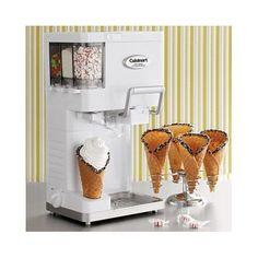 Soft Serve Ice Cream Maker Electric Cuisinart Homemade Frozen Yogurt Sorbet NEW #Cuisinart