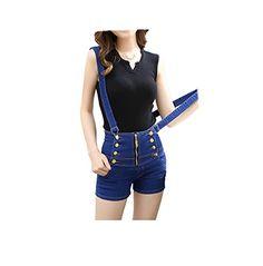VSVO Women Student Style Slim Medium Waist Denim Overalls (XX-Small, Dark Blue) VSVO http://www.amazon.com/dp/B013U41BQ4/ref=cm_sw_r_pi_dp_G1qQwb1GQ6GVN