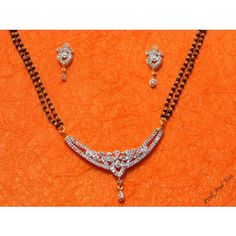 American Diamond beautiful Mangal Sutra with small Flower within it