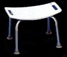 Shower Chair Bath Bench Seat, No Back 250 lb weight capacity #TruForm