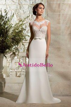 Vestidos de novia corte columna
