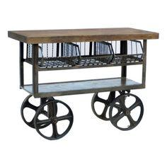 CDI International Furniture Industrial Iron Kitchen Cart #vintageindustrialfurniture