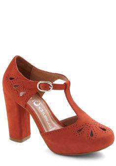 Shoes Your Own Adventure Heel by Jeffrey Campbell - Red, Solid, Cutout, High, Suede, Buckles, Vintage Inspired
