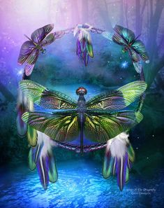 Dragonfly Spirit of healing energies and prosperity Symbol of peace and harmony Your iridescent wings catch the slightest breeze Telling us to be aware of subtle changes Helping us see the meaning of our deepest thoughts Showing us how to let our dreams come to the surface And our true colors and inner light shine As we dance upon the wind. Spirit Of The Dragonfly prose by Carol Cavalaris ©