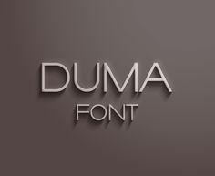 Duma Font by Ish Adames, via Behance