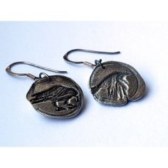 Game of Thrones Jewelry Raven Earrings, Game of Throne Messengers,... ($36) ❤ liked on Polyvore featuring jewelry, earrings, goth jewelry, earrings jewelry, sterling silver gothic jewelry, goth earrings and long earrings