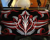Custom pinstriped PURSE hand painted hot rod rockabilly retro. $99.99, via Etsy.