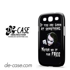 Joker Quotes DEAL-5943 Samsung Phonecase Cover For Samsung Galaxy S3 / S3 Mini