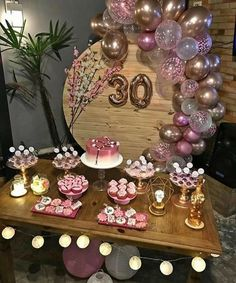 Inspire your Party ® 30th Birthday Parties, 20th Birthday, Diy Birthday, Birthday Celebration, Birthday Balloon Decorations, Birthday Balloons, Gold Party, Casino Night, Casino Party