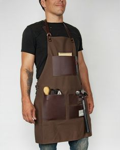 We loved this apron before we even met. TRVR Waxed Canvas and Leather Gentlemen's Apron