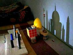 Taj Mahal - Shadow art