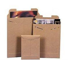 "9 3/4 x 12 1/4"" #5SFK Kraft Tab-Lock Original Stayflats® Mailer (100/Case)"