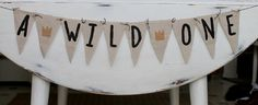 Banner A Wild One Where the wild things are by DesignsbyPurcell