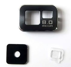 Camera Glass Lens Cover and Bazel For Samsung Galxy s2 I9100 Black | eBay