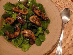 Σαλάτα ρόκα με ψητά μανιτάρια   cookcool Salads, Meat, Chicken, Food, Essen, Meals, Yemek, Salad, Eten