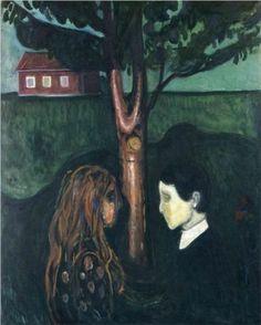 """Reaching through Distance. Love separated unwillingly""  LG    Edvard Munch - Eye in Eye 1894"