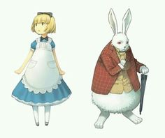 Alice in Wonderland and the White Rabbit