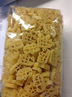 Pasta. Have never seen these before - amazing! I must find some!!