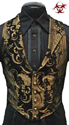SHRINE GOTHIC ARISTOCRAT VAMPIRE VEST JACKET VICTORIAN TAPESTRY PIRAT STEAMPUNK #SHRINE