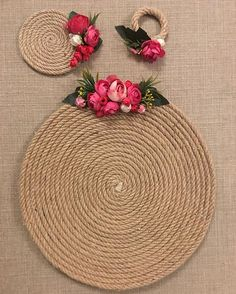 Artesanato com Corda de Sisal: 29 Ideias para Decorar sua Casa Jute Crafts, Diy And Crafts, Handmade Crafts, Flower Bouqet, Deco Champetre, Diy Y Manualidades, Flower Crown Wedding, Sisal, Diy Gifts