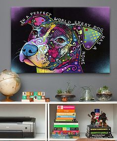 Look at this In a Perfect World Wrapped Canvas on #zulily today!