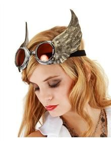 Steampunk Clothing, Costumes, and Fashion - Steampunk Adult Winged Goggles $24.99 #Steampunk #Halloween #costume
