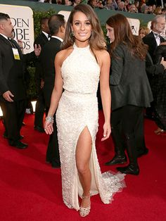 2013 Golden Globes: Lea Michele in Elie Saab