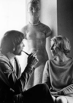 Author and artist Tove Jansson together with her brother Lars Jansson. Tove Jansson, Moomin Books, Become A Photographer, People Of Interest, Her Brother, Role Models, Finland, Illustrators, Love Her