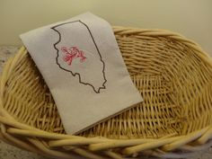 Illinois Dish Towel, Dish Towel, Kitchen Towel, Tea Towel, Towel, Illinois,  Dishcloths & Kitchen Towels, Linens, Kitchen and Dining, IL by RedbirdOriginals on Etsy