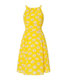 Louisa yellow daisy print dress Sale - Louche Sale