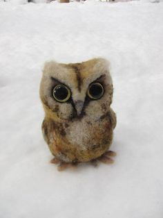 Hey, I found this really awesome Etsy listing at https://www.etsy.com/listing/91001246/needle-felted-baby-owl