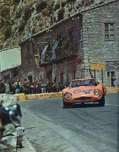 Alfa Romeo Giulia TZ2 driven by Roberto Bussinello Targa Florio 65 One of the most photographed corners of the world