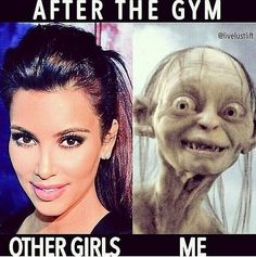 Gym Hair - The Struggle is Real - Funny fitness and gym memes for girls and women who lift, crossfit, workout, and run