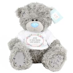 """Me To You """"Tatty Teddy"""" Bear with Personalised T-Shirt from personalised-by-you.com - Tatty Teddy, thecute teddy bear from the Me To You range, looks extra playful in his t-shirt, which can be personalised with 10 fun designs and a special message from you."""