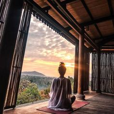 A guest meditating at the shala at sumberkima Hill Meditation Retreat, Yoga Meditation, Meditation Pictures, Sunrise Yoga, Yoga Sculpt, Spiritual Coach, Beautiful Yoga, Pranayama, Yoga Poses