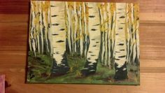 Learning to paint aspen trees