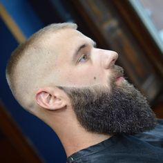 Check out these 12 modern ways to wear the buzz haircut. Add a fade, texture or shaved lines to create your own unique look. Beard Styles For Men, Hair And Beard Styles, Long Hair Styles, Moustache, Beard No Mustache, Short Hair Long Beard, Cool Mens Haircuts, Hairstyles Men, Buzz Haircut