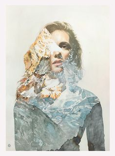 Fascinatingly gorgeous paintings from Oriol Angrill Jordà (Previously on Supersonic). You can see more of this incredible work below: [[MORE]] Oriol Angrill Jordà:. Watercolor Portraits, Watercolor Paintings, Watercolours, Art Paintings, Ap Art, Pencil Illustration, Double Exposure, Portrait Art, Amazing Art